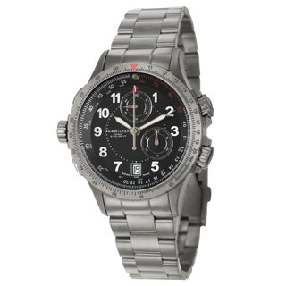 Hamilton Men's 'Khaki Aviation' Grey PVD-coated Steel Chronograph Watch