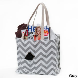Women's Chevron Print Weatherproof Tote Bag