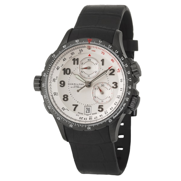 Hamilton Men's 'Khaki Aviation' Black PVD-coated Steel Chronograph Watch