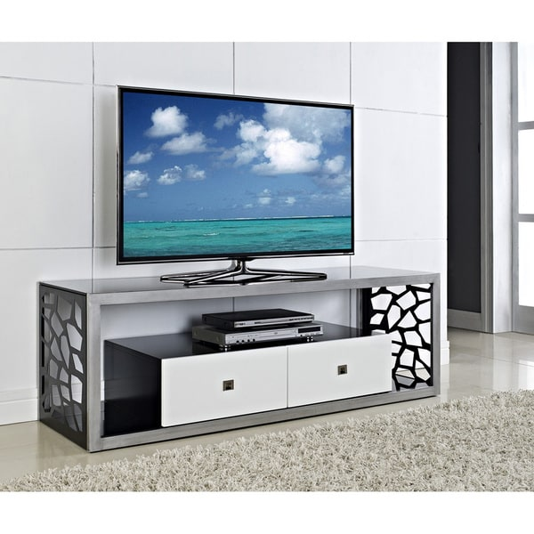 Black Glass Modern Mosaic 60-inch TV Stand Best Quality