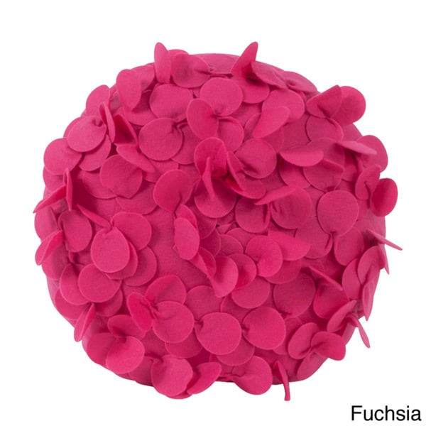 Round Flower 13-inch Decorative Throw Pillow
