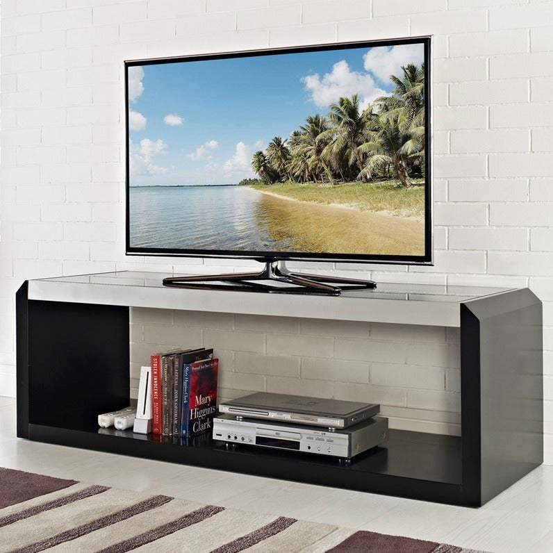 60-inch Black Glass Wood TV Stand at Sears.com