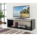 60-inch Black Glass Wood TV Stand
