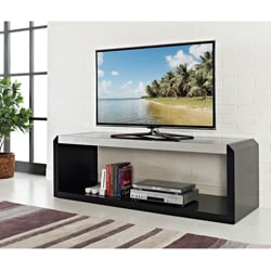 Modern Black Glass Wood 60-inch TV Stand