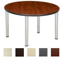 Regency Seating 42-inch Round Table with Chrome Post Legs