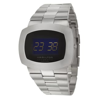 Hamilton Men's 'Pulsomatic' Stainless Steel Digital Watch