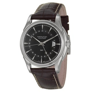Hamilton Men's 'Jazzmaster' Stainless Steel GMT Automatic Watch