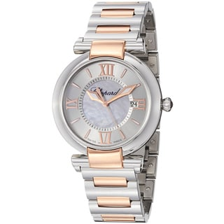 Chopard Women's 388532-6002 'Imperiale' Silver Dial Rose Gold Steel Quartz Watch
