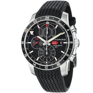 Chopard Men's 'Miglia GMT' Black Dial Rubber Strap Automatic Watch