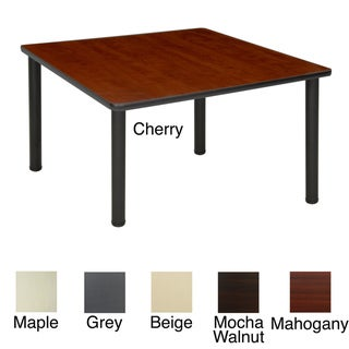 Regency Seating 42-inch Square Table with Black Post Legs