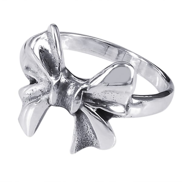 sterling silver bow tie ribbon ring thailand
