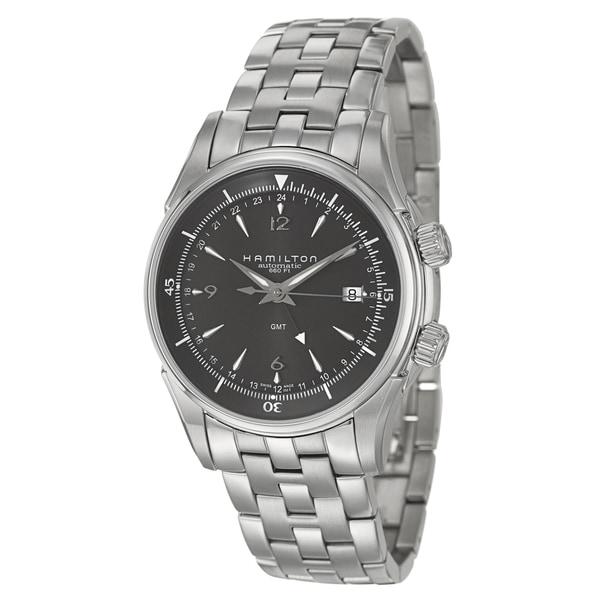 Hamilton Men's 'Jazzmaster' Water-Resistant Stainless-Steel GMT Watch