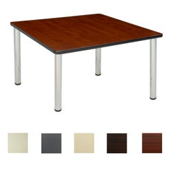 Regency Seating 42-inch Square Table with Chrome Post Legs