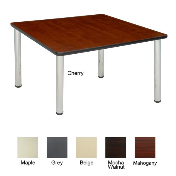 Regency seating 42 inch square table with chrome post legs for Table 52 prices