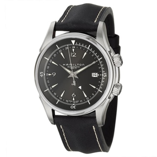 Hamilton Men's 'Jazzmaster' Stainless Steel GMT Watch