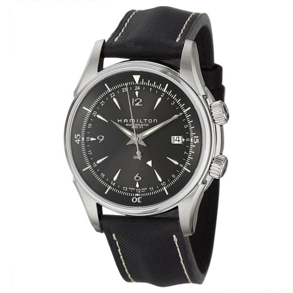 Hamilton Men's 'Jazzmaster' Stainless Steel GMT Watch