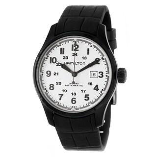 Hamilton Men's 'Khaki Field' Black Stainless Steel Military Time Watch