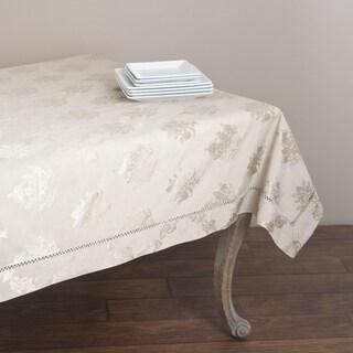 Drawnwork Damask 70x70-inch Tablecloth