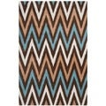 Safavieh Handmade Moroccan Chatham Chevron Brown Wool Rug (6' x 9')