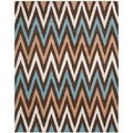 Safavieh Handmade Moroccan Chatham Chevron Brown Wool Rug (8' x 10')