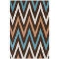 Safavieh Handmade Moroccan Chatham Chevron Brown Wool Rug (4' x 6')