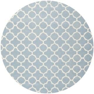 Safavieh Handmade Moroccan Blue Wool Area Rug (7' Round)