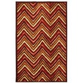 Dover Orange Stripe Area Rug (5' x 8')