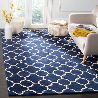 Safavieh Handmade Moroccan Dark Blue Geometric Wool Rug (6' x 9')