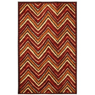 Dover Orange Stripe Area Rug (8' x 10')