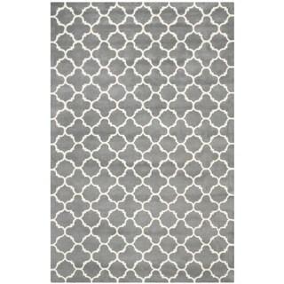 Safavieh Chatham Contemporary Handmade Moroccan Dark Gray Wool Rug (6' x 9')