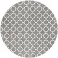 Handmade Moroccan Contemporary Dark Grey Wool Rug (7' Round)