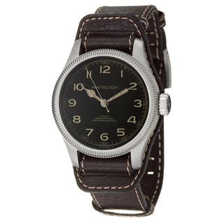 Hamilton Men's 'Khaki Field' Stainless Steel Swiss Mechanical Watch