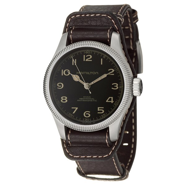 Hamilton Men's 'Khaki Field' Stainless Steel Swiss Mechanical Watch