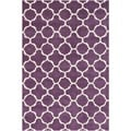 Handmade Moroccan Purple Wool Area Rug (4' x 6')