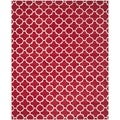 Handmade Moroccan Red Wool Area Rug (8' x 10')