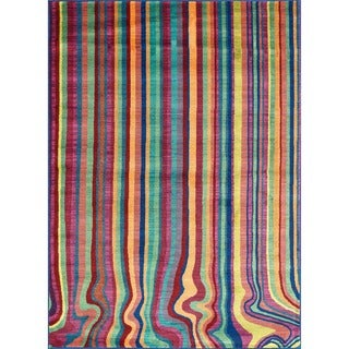 Skye Monet Multi Stripe Rug (7'7 x 10'5)