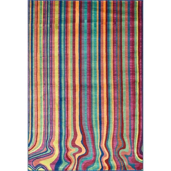 Skye Monet Multi Stripe Rug (7'7 x 10'5)