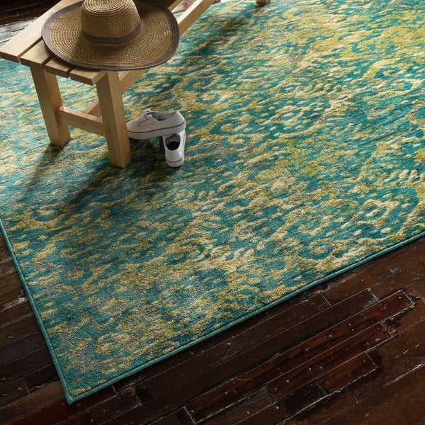Skye Monet Lagoon Rug (5'2 x 7'7)