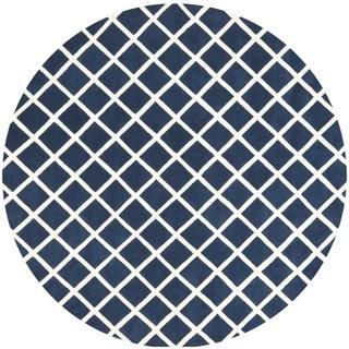 Safavieh Handmade Moroccan Chatham Chevron Dark Blue