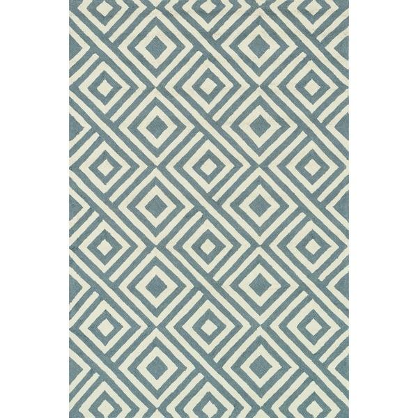 Hand-hooked Indoor/ Outdoor Capri Slate Rug (5' x 7'6)