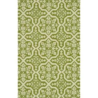 Hand-hooked Indoor/ Outdoor Capri Peridot Rug (7'6 x 9'6)