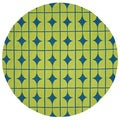 Handmade Indoor/ Outdoor Capri Lime Rug (7'10 Round)