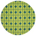 Hand-hooked Indoor/ Outdoor Capri Lime Rug (7'10 Round)