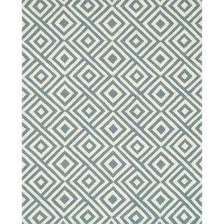 Hand-hooked Indoor/ Outdoor Capri Slate Rug (7'6 x 9'6)