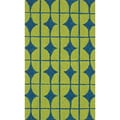 Handmade Indoor/ Outdoor Capri Lime Rug (2'3 x 3'9)