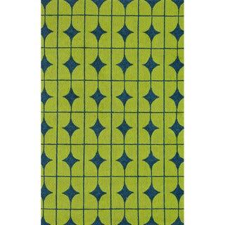 Hand-hooked Indoor/ Outdoor Capri Lime Rug (7'6 x 9'6)