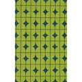 Handmade Indoor/ Outdoor Capri Lime Rug (7'6 x 9'6)