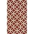 Handmade Indoor/ Outdoor Capri Red Rug (2'3 x 3'9)