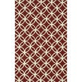 Handmade Indoor/ Outdoor Capri Red Rug (5' x 7'6)