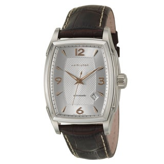 Hamilton Men's 'Jazzmaster' Stainless-Steel Silver-Dial Swiss Automatic Watch